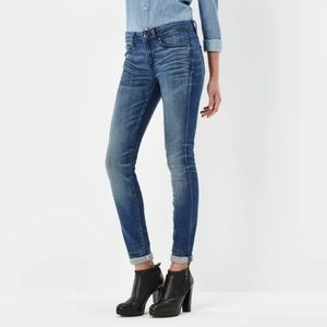 2/$45 G Star Raw 3301 Contour High Straight Jeans
